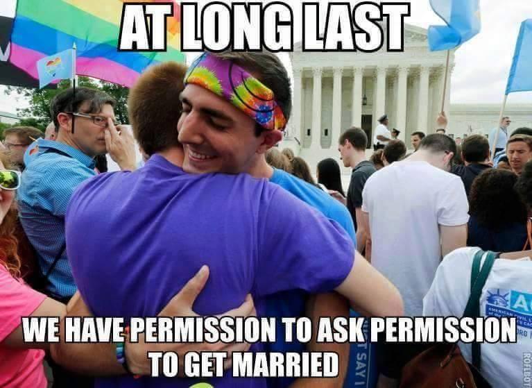 Finalmente... nos dieron permiso para pedir permiso para casarnos
